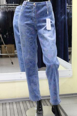 джинсы женские цветной принт